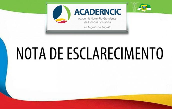 NOTA À IMPRENSA – ACADEMIA NORTE-RIO-GRANDENSE DE CIÊNCIAS CONTÁBEIS